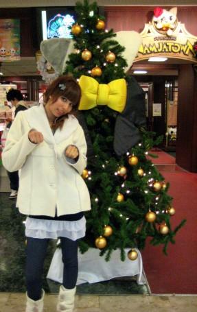 Cat Christmas Tree in Sunshine 60 at Namja Town in Ikebukuro
