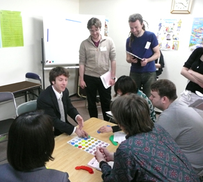 Hands-on training with teachers from all over Japan