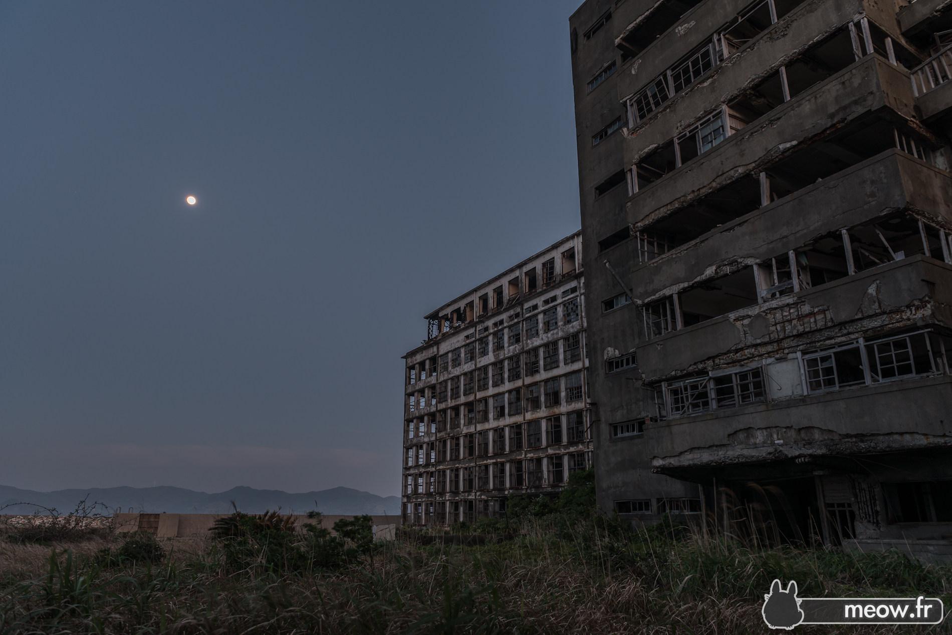 Gunkanjima Moon