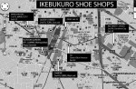 Ikebukuro shoe shops map