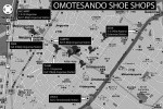 Omotesando shoe shops map
