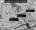 Shibuya shoe shops map