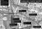 Shinjuku shoe shops map
