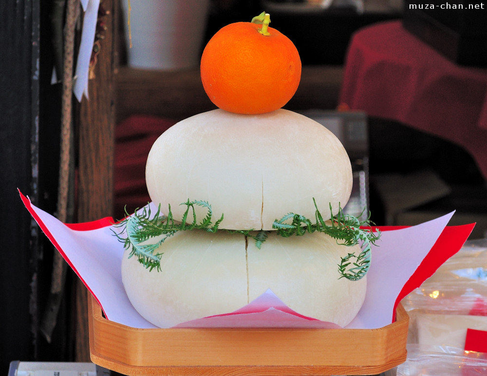 Japanese new year decoration kagami mochi