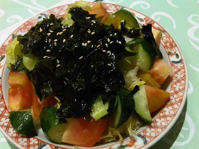 wakame health food